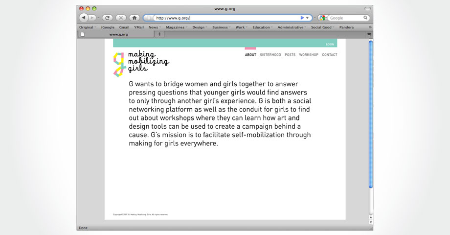 G: Making. Mobilizing. Girls